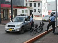 Paramaribo 32 - policemen on bicycles