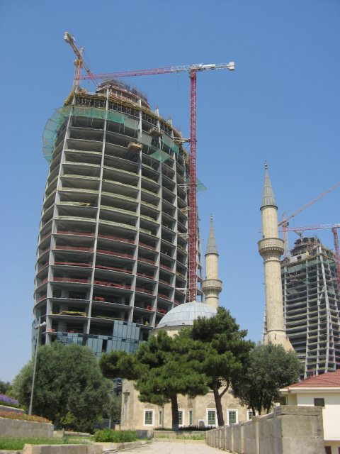 Baku 23 - building site and mosque