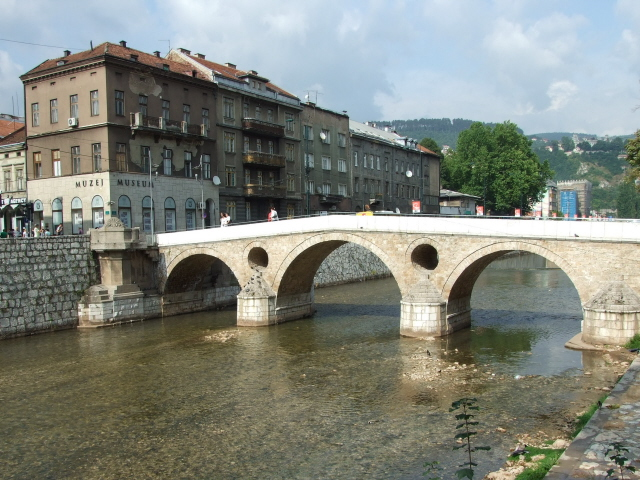 Franz Ferdinand assassination site - Sarajevo Latin Bridge