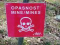 Homeland War Memorial 06 - landmine warning sign
