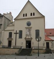 Brno Capuchin Crypt 01 - outside with the church above the crypt