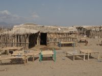 Danakil 29 - rest camp at midday