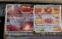Danakil 31 - enthusiastic advertising at a lunch stop