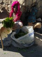 Harar 36 - woman selling chat