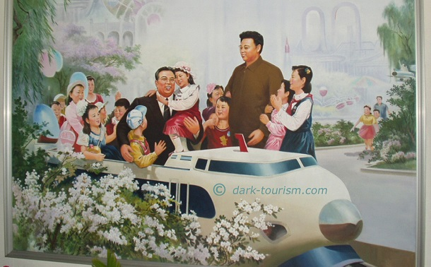 05 09 15   North Korea   Great Leaders in a miniature Japanese bullet train