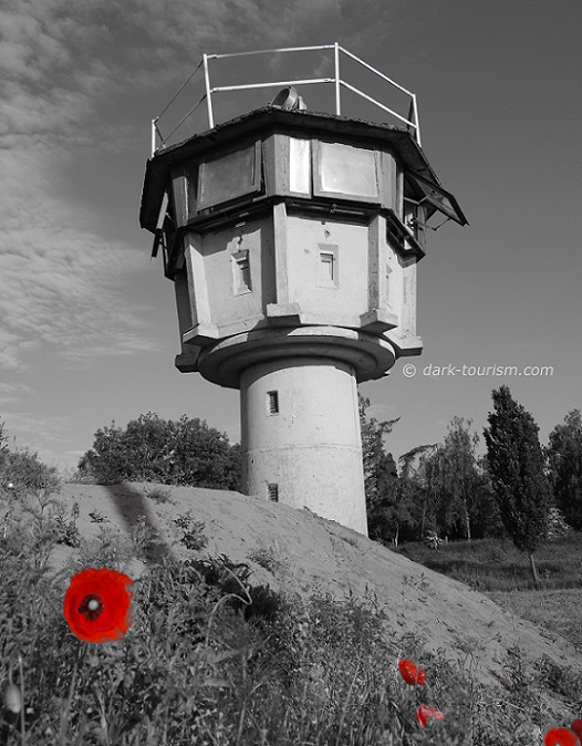 11 11 2015   poppy and old GDR border watchtower