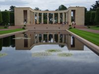 D-Day Tour 21 - main memorial at the American war cemetery
