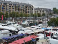 Caen 14 - market and marina