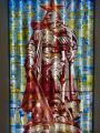 Karlshorst 23 - Treptow monument depiction in stained-glass window