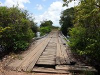 Guyana 18 - wobbly bridge in the Rupununi