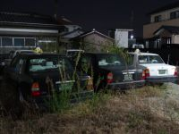 Fukushima 50 - abandoned taxis in Odaka