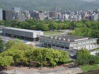 Hiroshima Peace Museum 03 - undergoing earthquake-proofing in 2019