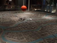 Hiroshima Peace Museum 07d -large diorama with red ball over the hypocentre - also no longer part of the exhibition