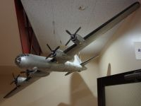 CTRWD 05 - B-29 model hanging from the ceiling at the top of the staircase