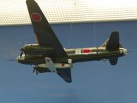 Yushukan 09 - model of an Ohka-carrying Betty bomber