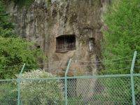 Yoshimi caves 9 - nearby former cave hotel