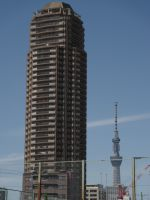Tokyo 12 - apartment block making the Tokyo SkyTree in the distance look small