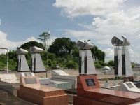 7 - flight 764, monument on a Paramaribo cemetery