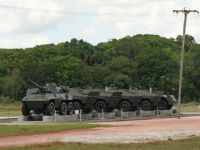 Suriname 13 - roadside military vehicles