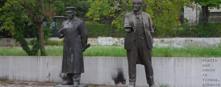 098 - Stalin and Lenin, Tirana, Albania.jpg