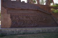 Mekele 09 - Tigrayan Martyrs Monument, tank bas relief