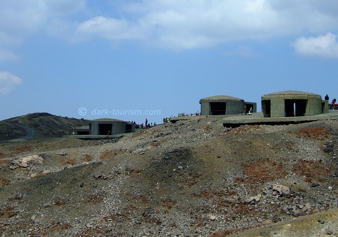 14 09 17   bunkers for protection from lava bombs, Aso, Japan