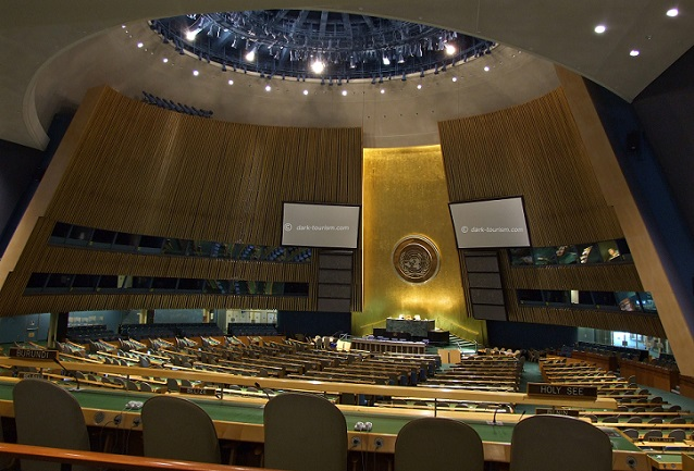 01 04 2020   empty UN General Assembly