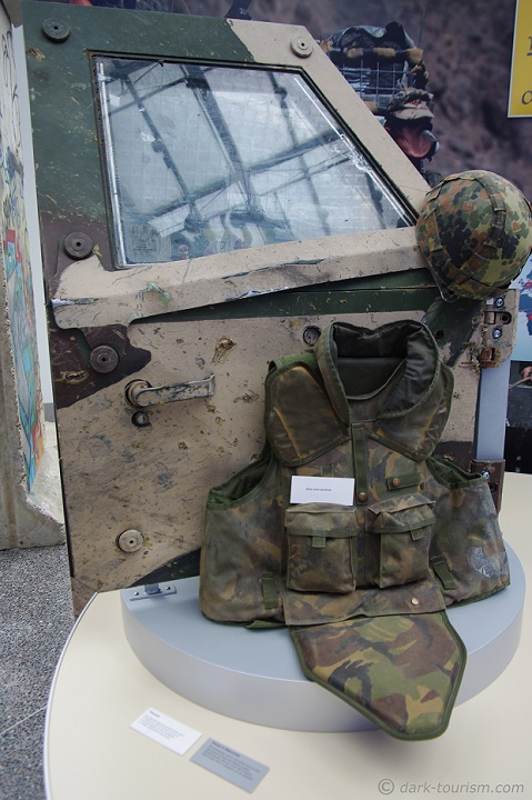 13 03 2020   door of a German militay armoured personall vehicle that was ambushed in Afghanistan