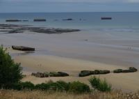 D-Day Tour 40 - remnants of the artificial harbour