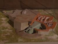 La Coupole 18 - model of an Atlantic Wall coastal gun