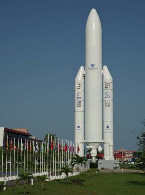 Kourou 1   mock up Ariane rocket