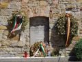 Risiera 19 - memorial stone and wreaths