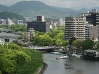 Hiroshima 01a - view over the river and the premier sight of the city