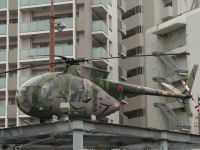 Nagasaki 18 - random military helicopter on a pedestal