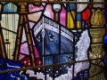 Titanic Tour 14 - Titanic on a City Hall stained glass window