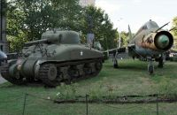 Polish military museum 1 - Soviet plane and US tank